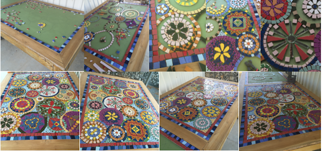 Mosaic Table Pictures