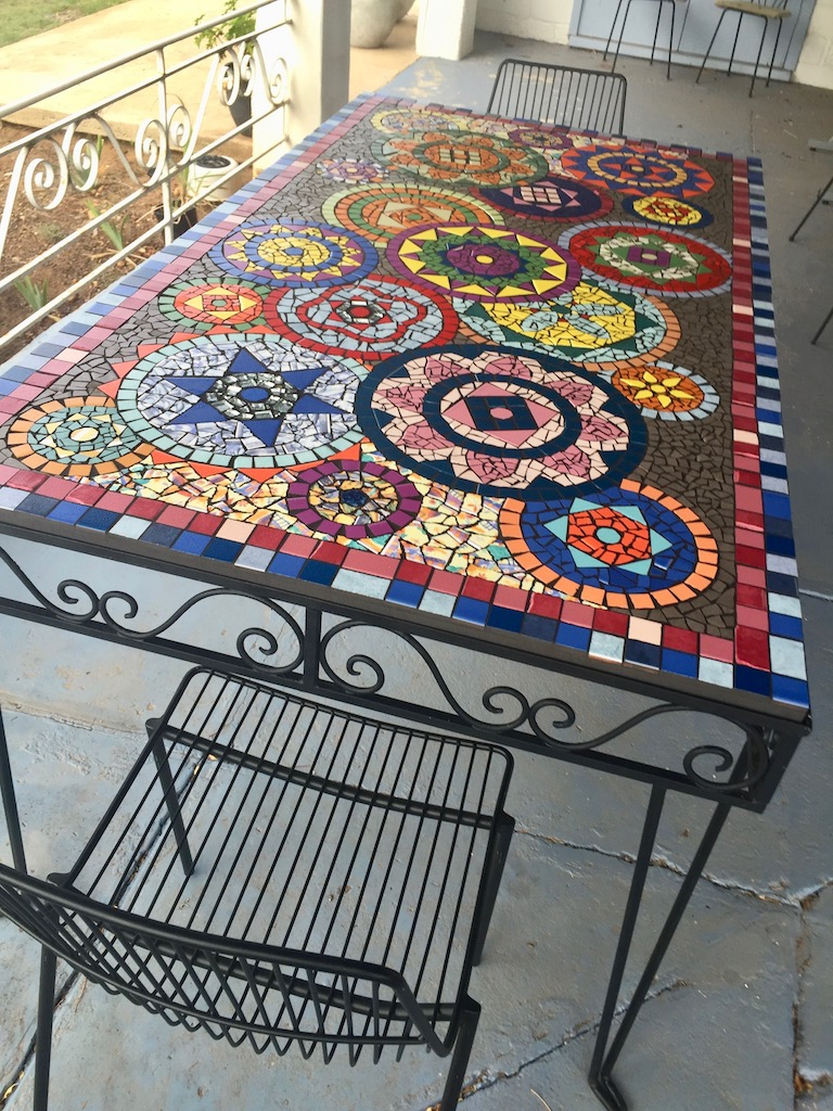 Mosaic Table Rectangle Dining Lifelong Learning
